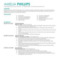 Assistant Manager Food Restaurant Resume Example Contemporary X Best