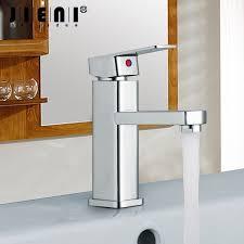 JIENI <b>Bathroom</b> Faucet <b>Basin Sink</b> Tap Hot and Cold Water Mixer ...