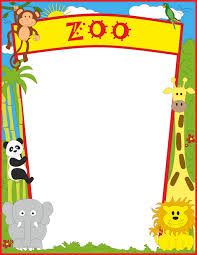 zoo animals clipart border. Simple Clipart A Page Border Featuring Zoo Animals With Zoo Animals Clipart Border I