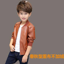 children boys winter coat new 2016 winter thick velvet kids pu leather jacket fashion solid children s