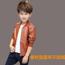 children boys winter coat new 2016 winter thick velvet kids pu leather jacket fashion solid children s