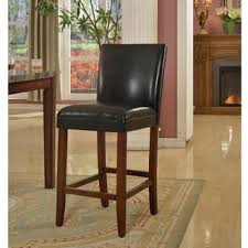 shop homepop 29inch luxury black faux leather barstool on sale free shipping today overstockcom 6169999 leather bar stools e97