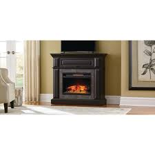 home decorators collection coleridge 42 in mantel console infrared electric fireplace in midnight oak finish