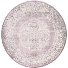 unique loom new classical purple 8 x 8 round rug
