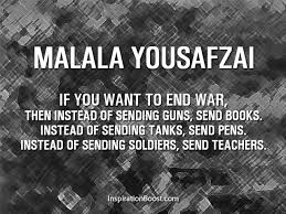 War And Peace Quotes Inspiration Malala Yousafzai Peace Quotes Inspiration Boost
