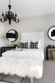 white bedroom chandelier.  White Black U0026 White Black Chandelier Obsessed With The White Fur Bench I Would  Do Diamond Tufted Headboard And Mirrored Nightstands On White Bedroom Chandelier D