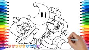 How To Draw Mario Odyssey Super Mario 12 Drawing Coloring Pages