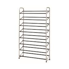 black color shoe rack storage sliding. Display Product Reviews For 30 Pair Chrome/Black Coated Metal Shoe Rack Black Color Storage Sliding N
