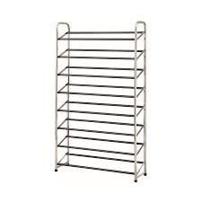 display reviews for 30 pair chrome black coated metal shoe rack
