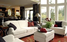 Small Living Room With Bay Window Modern Small Living Room Design With Fire Places Under Large