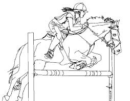 Anti Stress Kleurplaten Paarden Jumping 9