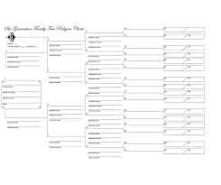 Genealogy Form Templates Family Tree Template 5 Generations Outline Printable Forms