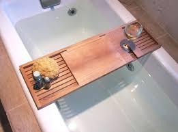 appealing teak bathtub for unique table ideas clawfoot tub caddy chrome bath tray