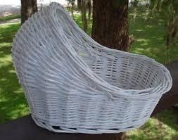 White Wicker Bassinet for Baby Shower Decoration Centerpiece | eBay