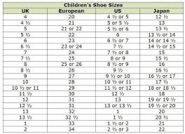 Children Shoe Size Chart Shop Abroad With These Clothing Size Conversion Charts