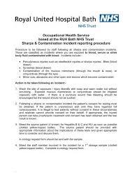 Sharps Contamination Incident Reporting Procedure