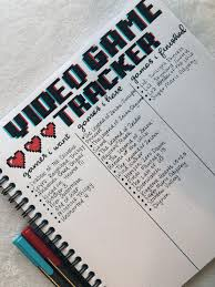 Game Backlog Tracker Video Game Tracker In My Collections Journal Bulletjournal