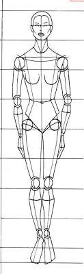 Fashion эскиз урок 1 пропорции тела человека