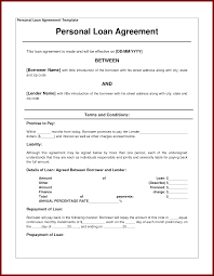 How To Write A Personal Loan Contract Personal Loan Agreement Contract Template Oloschurchtp 19