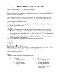 Outline Of Compare And Contrast Essay How To Structure Comparison Contrast Essays