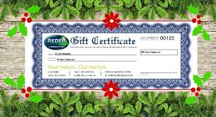 Certificates To Make Reder Landscaping Gift Certificates Make The Perfect Gift
