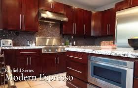 fairfield series modern espresso rta kitchen cabinets