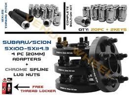 4pc Subaru 5x100 Converts To 5x114 3 Wheel Spacer Adapter