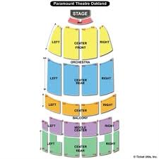Paramount Theatre Oakland Seating Chart New Orleans