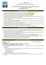 Fire Safety Manager Sample Resume