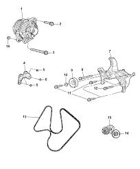 2007 chrysler aspen alternator mounting