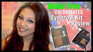 dollar tree makeup colormates eyebrow kit review