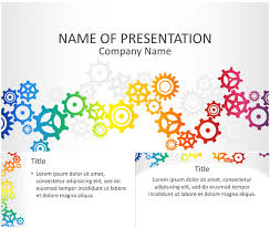 colorful gears powerpoint template templateswise com abstract nice powerpoint template multicolor cogwheels on a light grey background use this theme for any presentation topics like