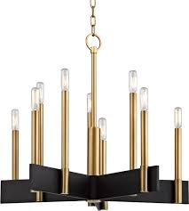 hudson valley 8825 agb abrams contemporary aged brass hanging chandelier loading zoom