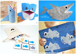 shark crafts and activities for kids