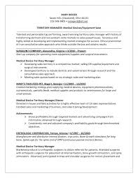 Resume Sample Archives Ideas Medical Device Sales Objective