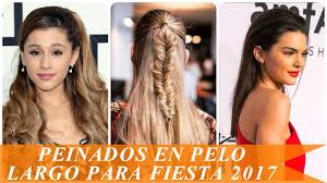 Peinados En Pelo Largo Para Fiesta 2017 Youtube