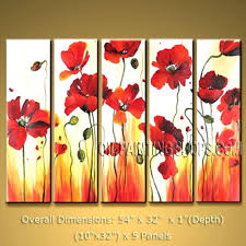red poppy canvas wall art red poppies canvas wall art bed bath landscape art modern oil red poppy canvas