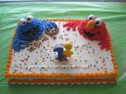 Coolest Cookie Monster And Elmo Cake
