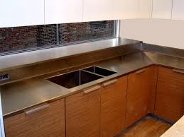 Stainless steel sinks and counters Backsplash Stainless Steel Sinks Kitchen Plans Decorations And Style Stock Ideas Stainless Steel Countertop Brooks Custom