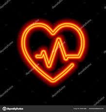 čára Srdce Tep Jeden řádek Styl Lineární Ikona Tenký Obrys Stock