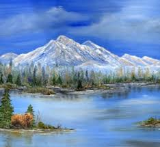 Gzzley at Serenity Lake Painting by Priscilla Andrews | Artmajeur