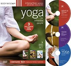 inflexible people. yoga for inflexible people 3 dvd set (50 routines) i
