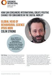 Global Head of Behavioural Science Ipsos mori Colin Strong