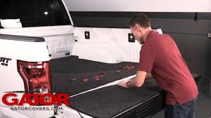 How to Install Gator Truck Bed Mat and Tailgate Mat - YouTube