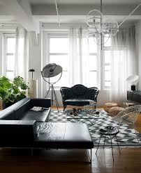 Living Room Black Leather Sofa Black Leather Sofa With Dark Wood Accent Wall Living Room