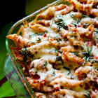 baked penne with meat sauce