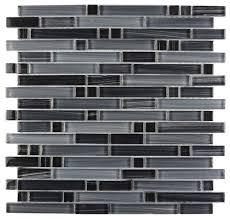 gray handicraft lagoon linear glass mosaic tile 11 75 x11 75 single sheet