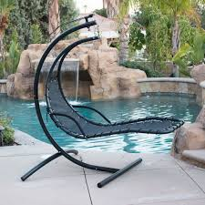 hanging patio chair unique hanging chaise lounge chair hammock swing in outdoor chaise lounge with canopy