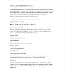 Corporate Meeting Minutes Examples Corporate Meeting Minutes Template 10 Free Word Excel