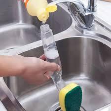 Ilifeasy 2 Chiếc Bàn Chải Rửa Chén Cầm Tay Đa Năng Bàn Chải Vệ Sinh Nhà Bếp  Có Tay Cầm Dài Máy Rửa Chén Bàn Chải Dụng Cụ Làm Sạch Chà Bọt